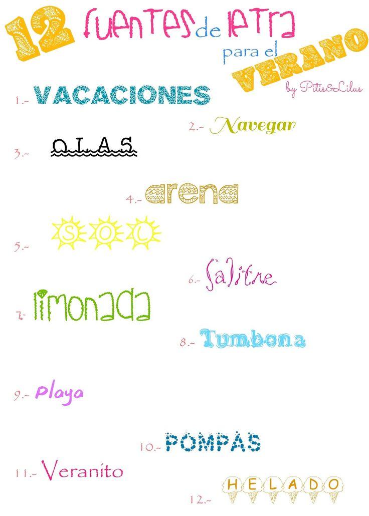 12 fuentes de letra / tipografias verano 12 free summer font