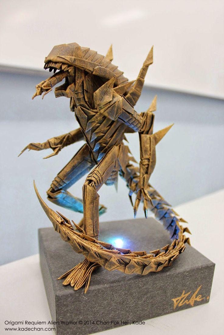 Kade Chan Origami Blog 香港摺紙工作室 (博客): Origami Requiem Alien Warrior 安魂曲異形摺紙>>> HOLY SH*T
