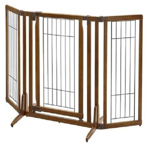 Premium Plus Freestanding Dog Gate with Door