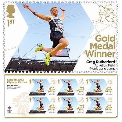 Gold Medal Winner stamp - Greg Rutherford, Men's Long Jump