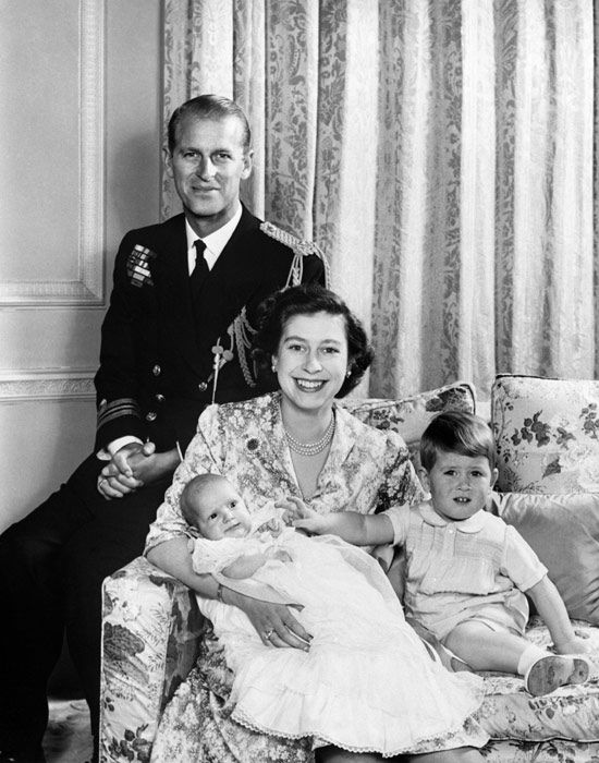 Christening of HRH Princess Anne - baptised Anne Elizabeth Alice Louise at Buckingham Palace on October 21, 1950