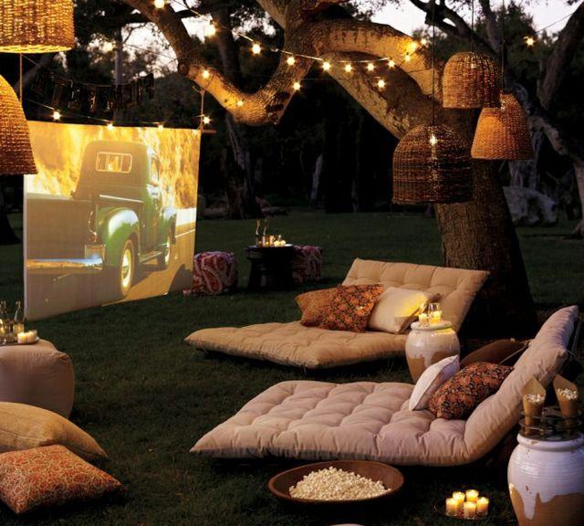 Créer une salle de cinéma privée dans le jardin