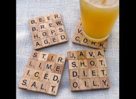 Love these scrabble coasters! Gonna have to make some of these!