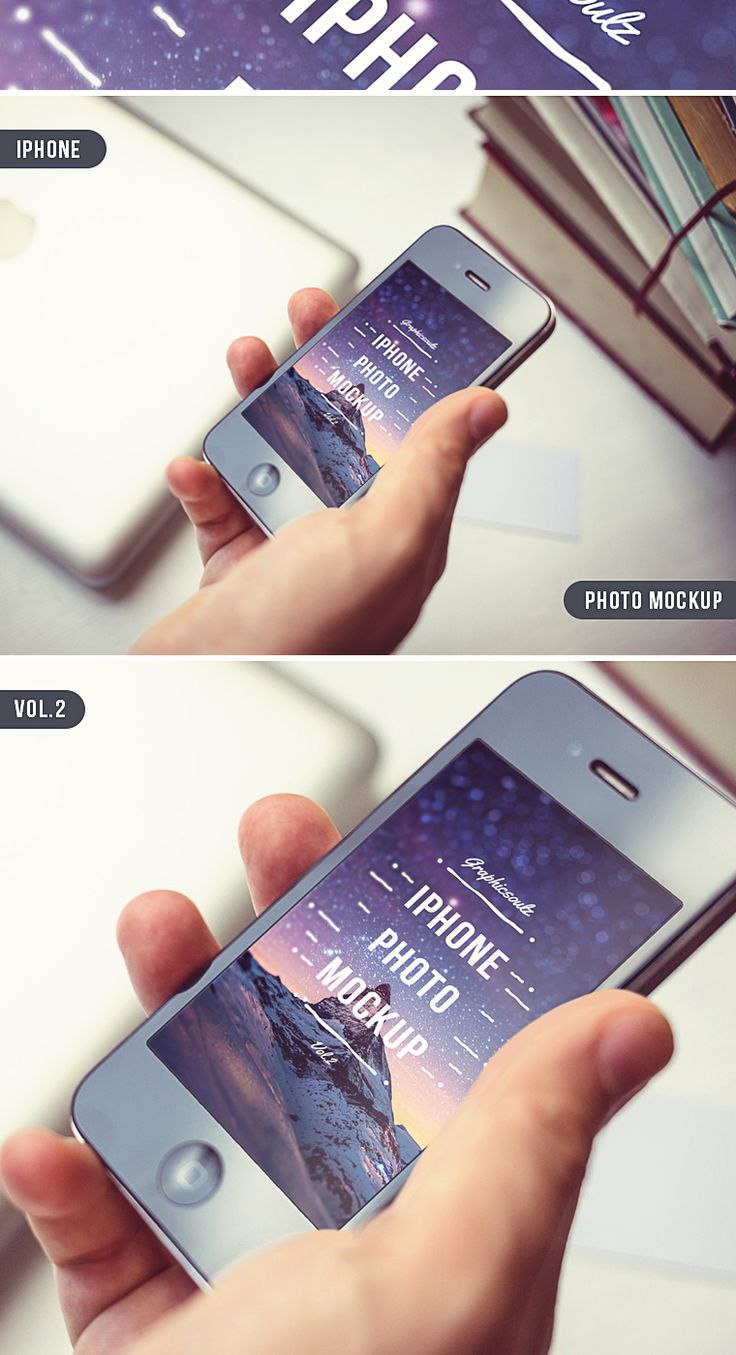 iPhone Photo Mockup Vol.2 - By Graphicsoulz