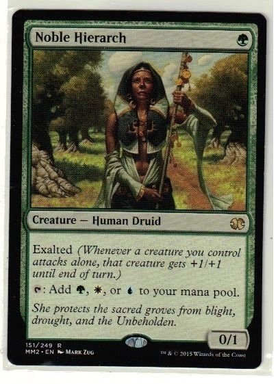 2015 Magic the Gathering Modern Masters - Noble Hierarch Rare TCG Game Card #WizardsoftheCoast