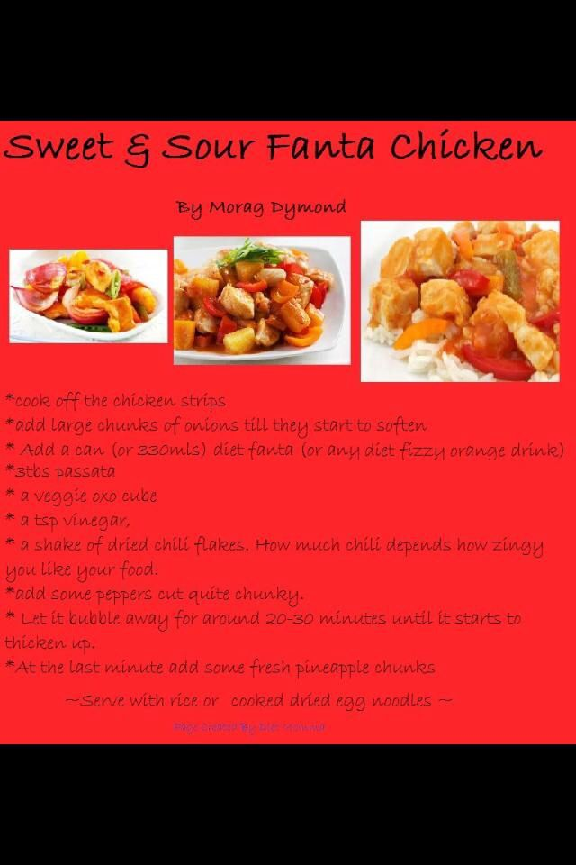 Sweet & sour Fanta chicken :)