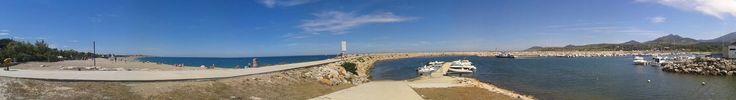 Plage et port d'Argeles-plage