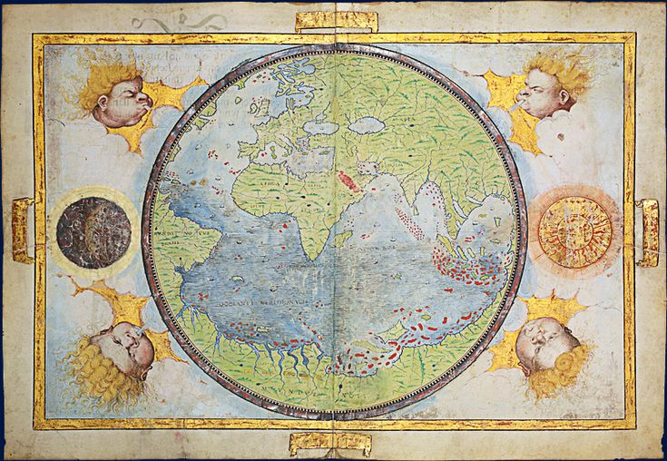 Miller Atlas - View of the world - 1519 Source : Bnf