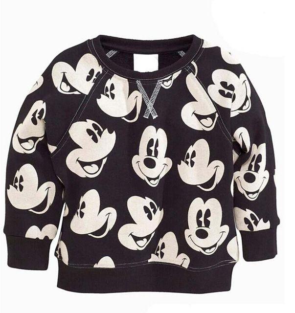 2016女の子男の子スウェット テリー コットンミッキーミニーマウス カジュアル スポーツ セーター パーカー コート秋子供服