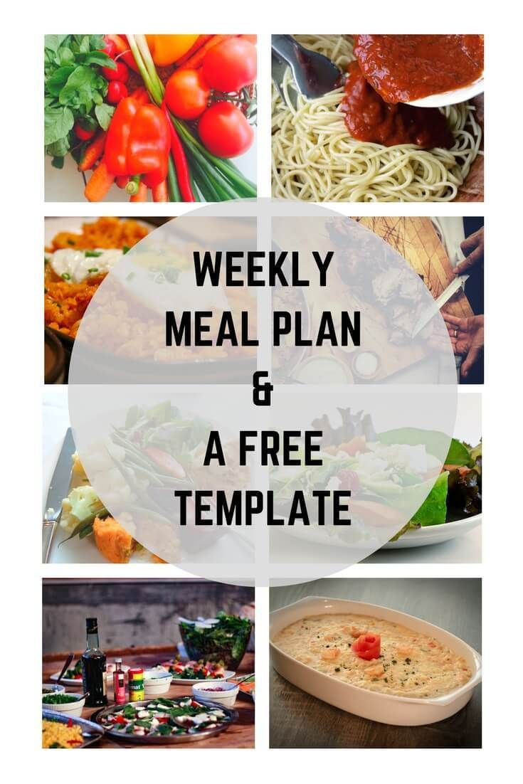 Get your meal inspiration from your weekly menu and a free meal planning template - Week 6