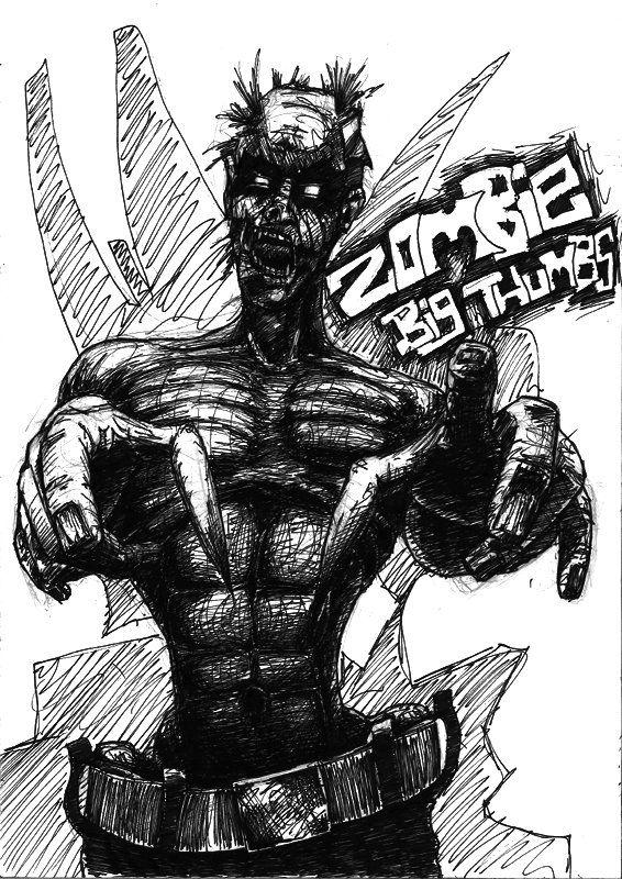 Zombie Big Thumbs by TrevorDaveSon.deviantart.com on @deviantART