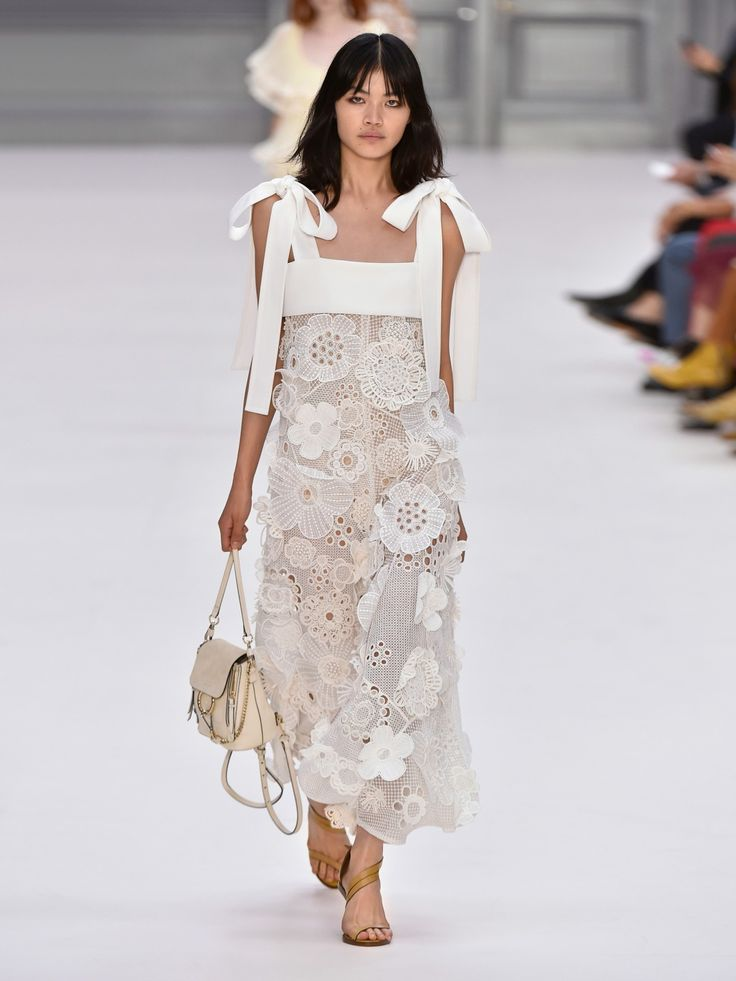 Flowered Embroidered Dress Spring/summer Chloé Get To Buy Cheap Price Cheap Sale Free Shipping Cheapest Cheap Online Outlet Low Cost Shop For Sale Online C7cMS
