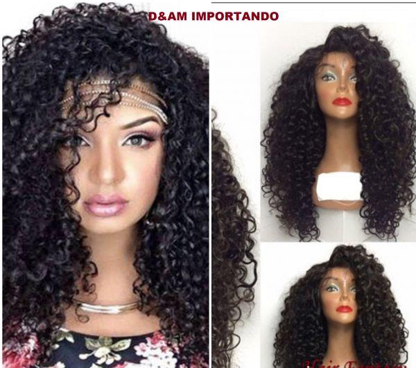 Fibra de qualidade superior encaracolados frente perucas sintéticas perucas 180% densidade preto resistente ao calor perucas de cabelo sintético Tipo de Item:Peruca Material:Cabelo sintético Modelo Número:sintética Lace Front Wigs Cap tamanho...