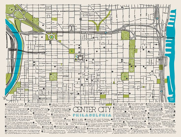 The Center City Philadelphia Map By Eyes Habit: Philadelphia Center City Map At Slyspyder.com