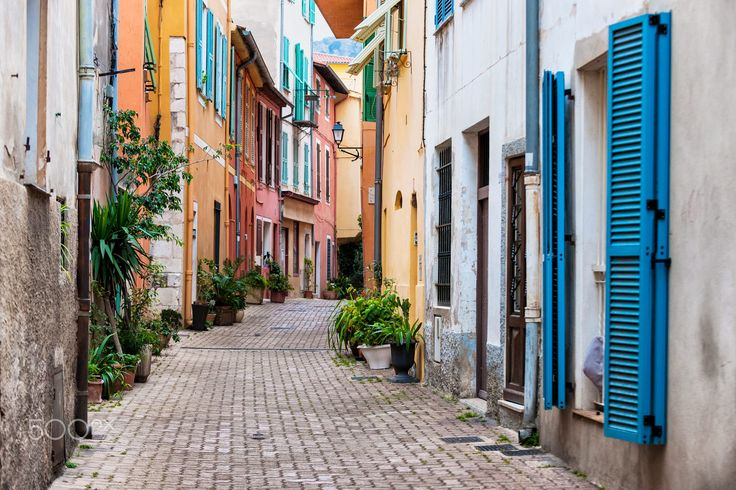 Old town street  in Villefranche-sur-Mer by Elena Elisseeva on 500px