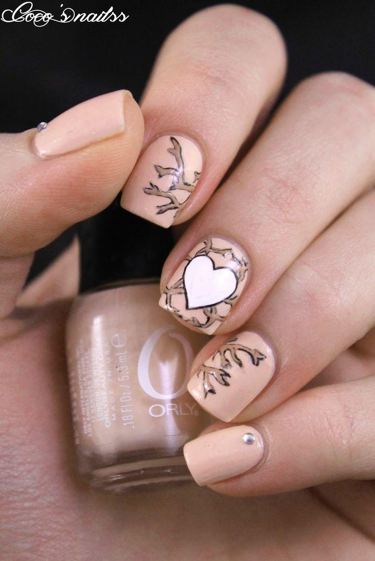 valentine themed nail art