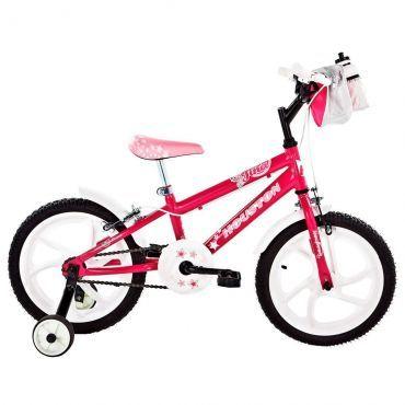 Bicicleta Tina Aro 16 Rosa com Bolsa e Capacete - Houston