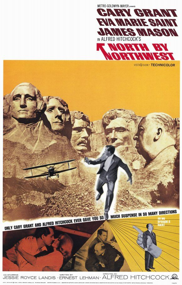 North by Northwest.Film, Movie Posters, Classic Movie, North By Northwest, Picture-Black Posters, Comics Book, Northwest 1959, Cary Grant, Alfred Hitchcock