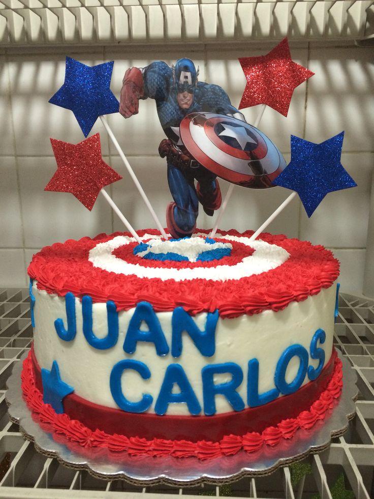 Capitan America Pasteles De Cumplea 209 Os Por La Casa De
