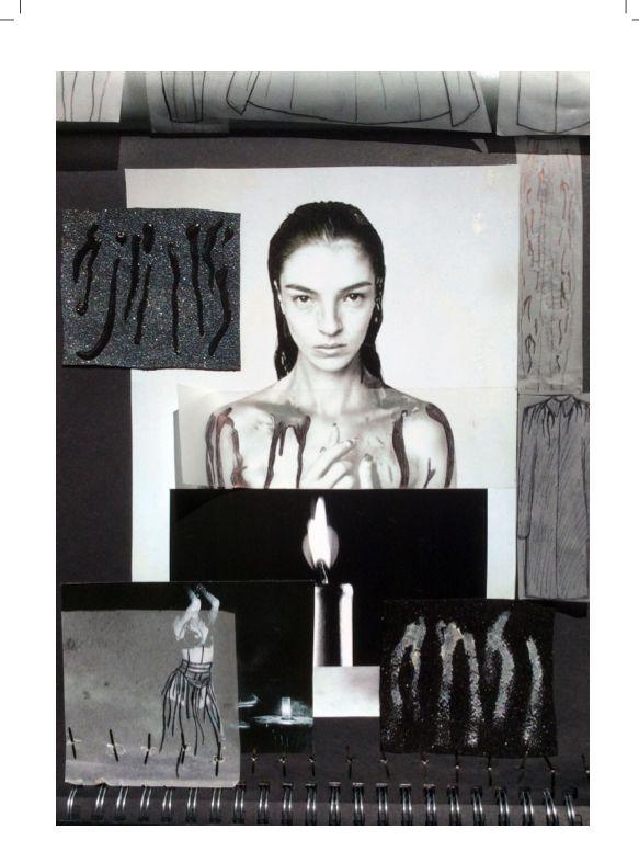 Fashion Moodboard - fashion design concept & inspirations; creative process // Ella Cervjakova