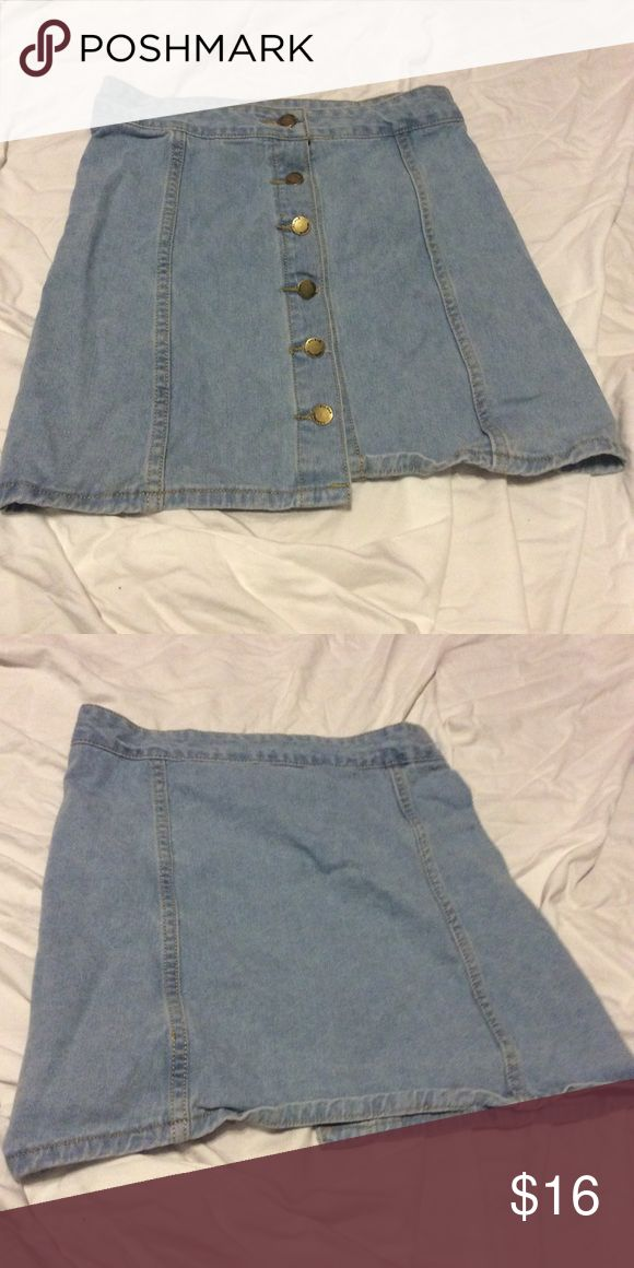 SHEIN high waisted jean skirt Color: blue Size: large Brand: shein SHEIN Skirts Mini