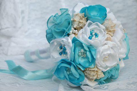 Tengerparti menyasszonyi csokor, Esküvő, Esküvői csokor, Meska