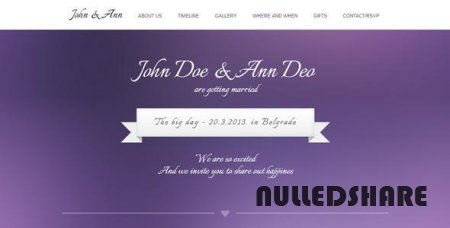 WeeDay One Page with Timeline Wedding Template » Nulled Scripts, php, WSOs - NulledShare.com
