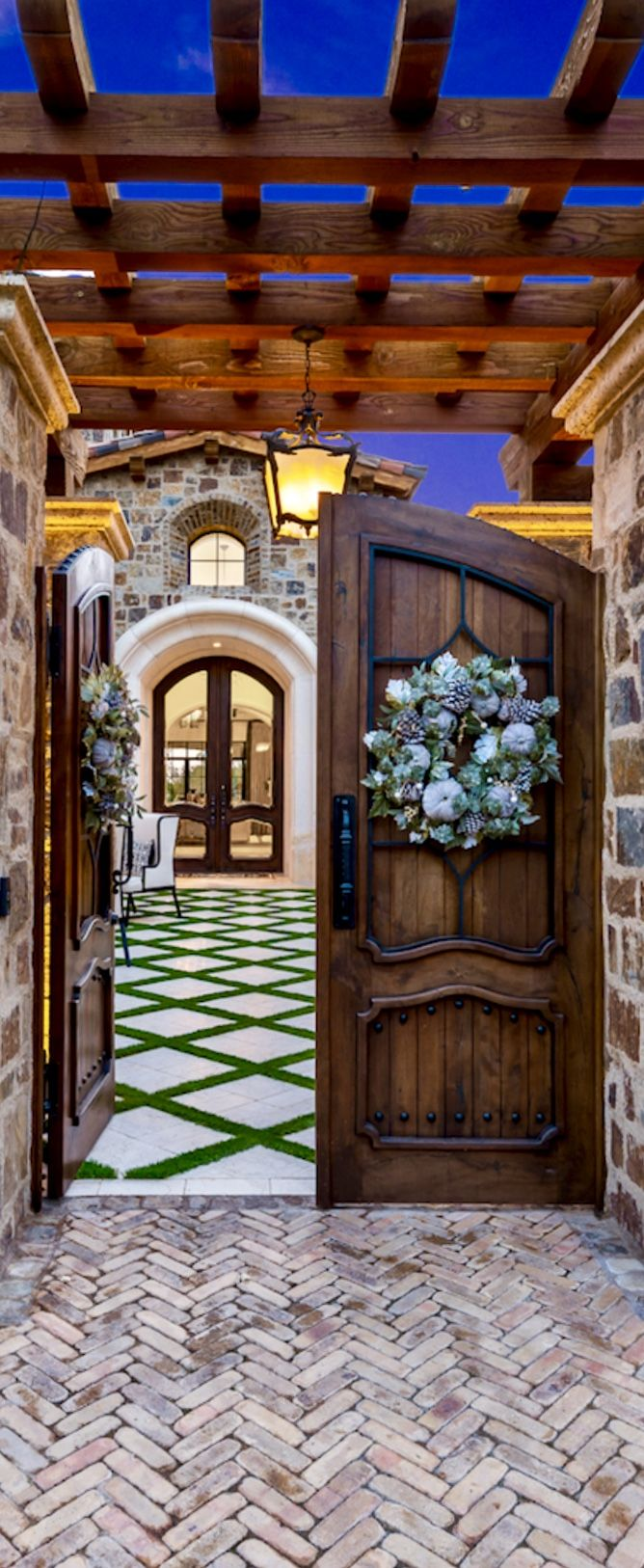 Fratantoni Luxury Estates Amazing I love this entrance to a courtyard and then the entrance to the home.