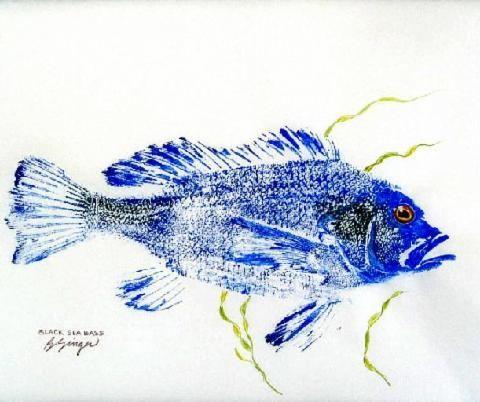 SALT WATER GYOTAKU GALLERY - GYOTAKU Fish Rubbings - Art by Barry Singer