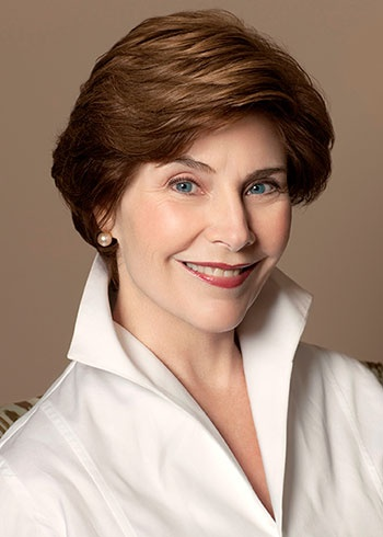 Laura Bush, Lovely layered #hair. ‏@laurawbush
