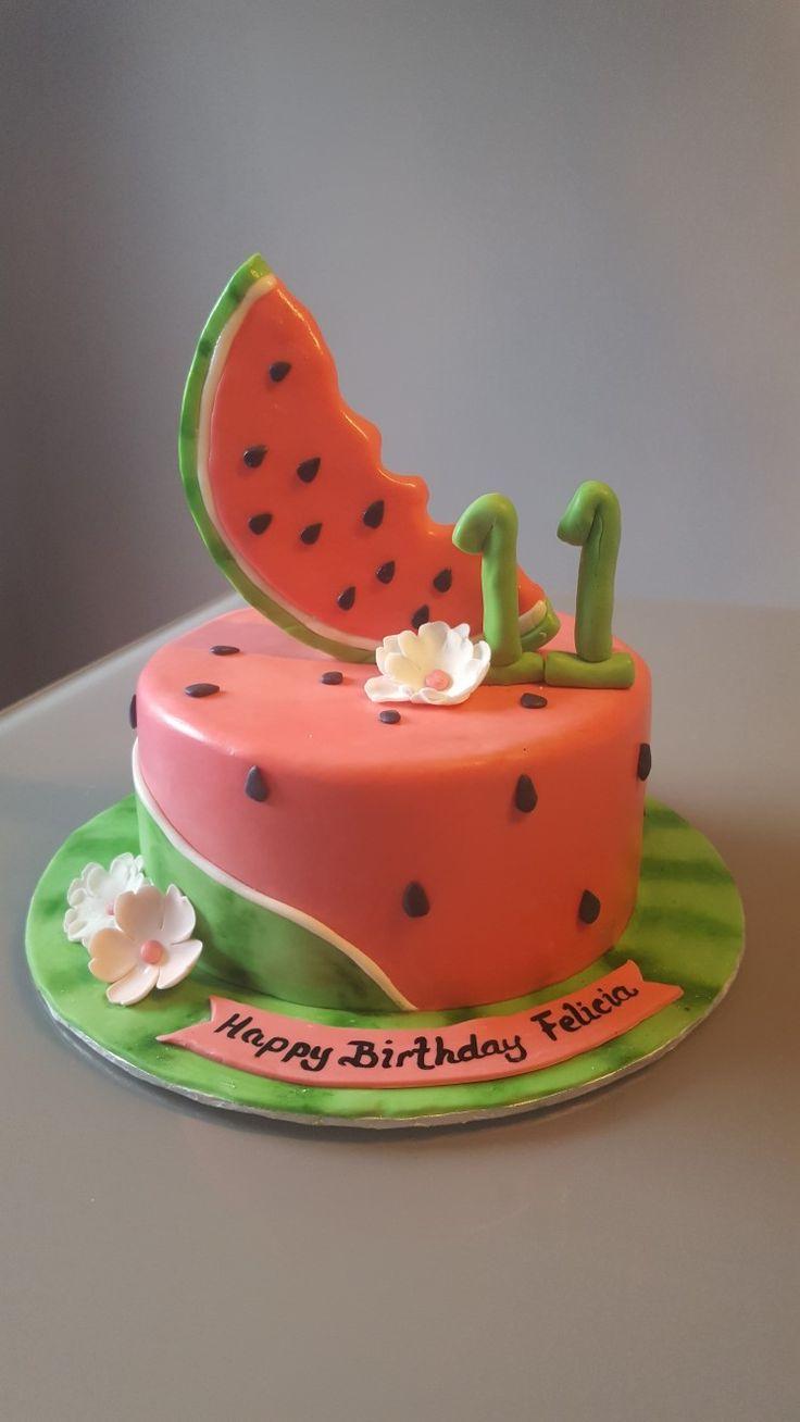 Water Melon Birthday Cake