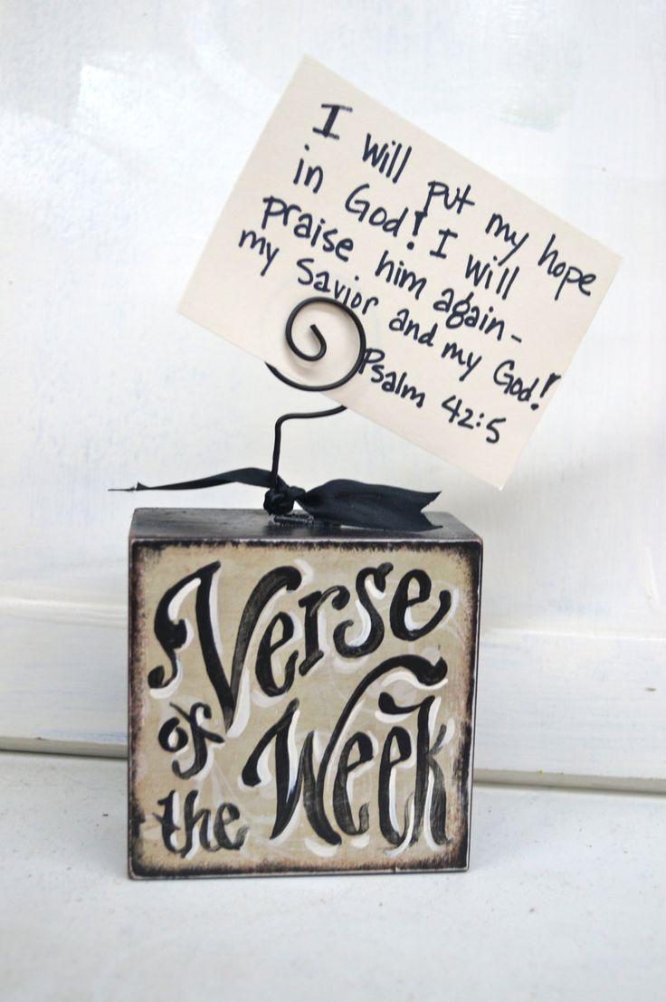 Verse Of The Week Card Holder. $14.50, via Etsy.