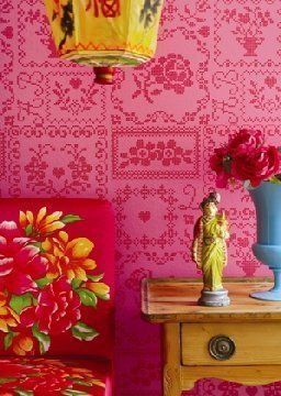 Valentines Day Decor Inspiration: Hot Pink & Red Rooms | Apartment Therapy