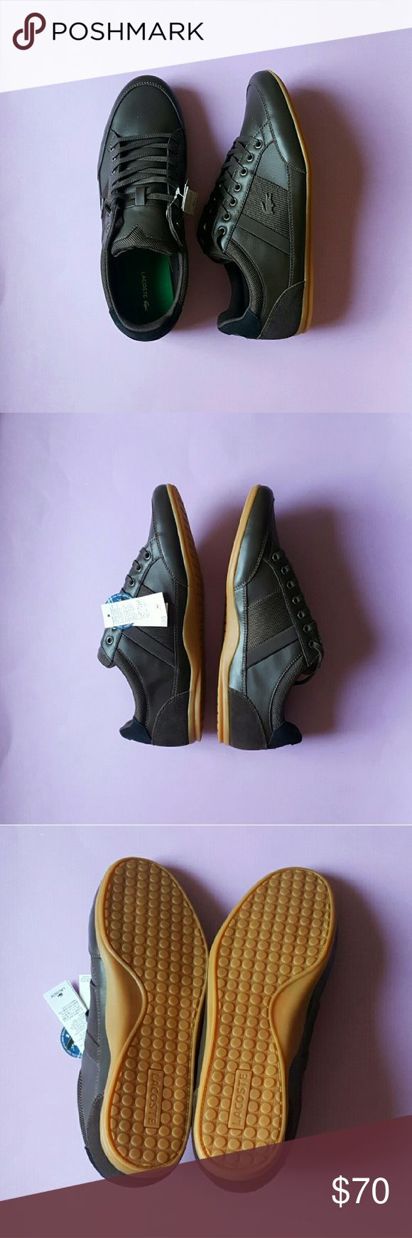Lacoste Sport Ortholite Chayman Sneakers NO-TRADES  Cross posted   New with tags, but no box.  These are in brown suede and leather with black suede on the back.   Originally  $150, but now on sale for $80  Please, no trades requests or lowball offers. Lacoste Shoes Sneakers