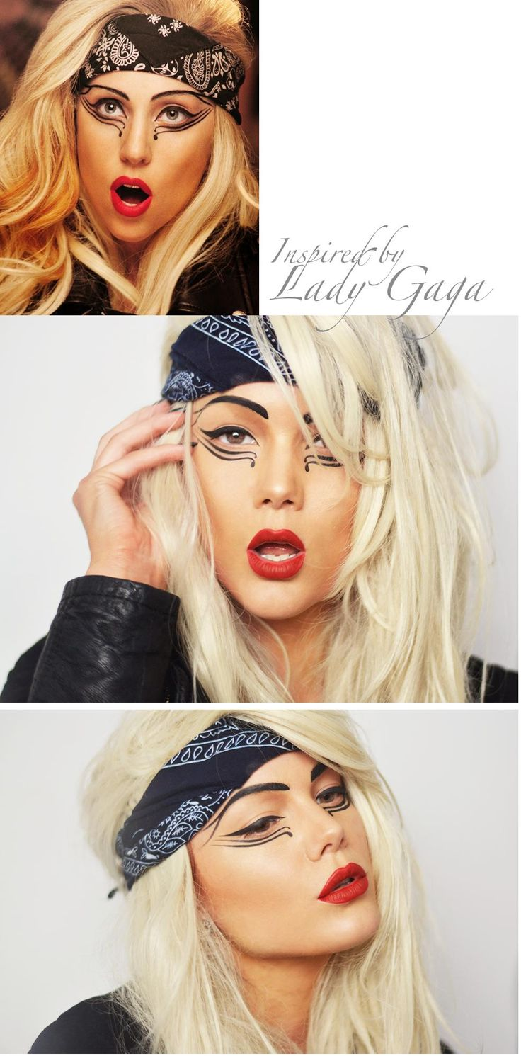 "celebrity makeup – Lady Gaga ""Judas"""