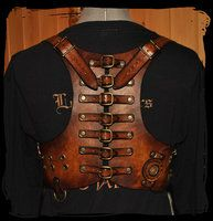 steampunk leather harness by Lagueuse