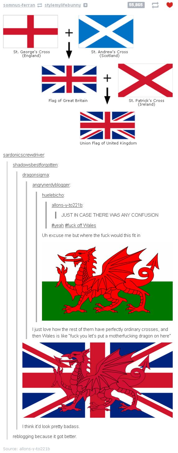 The British should add that the Red Dragon to their flag