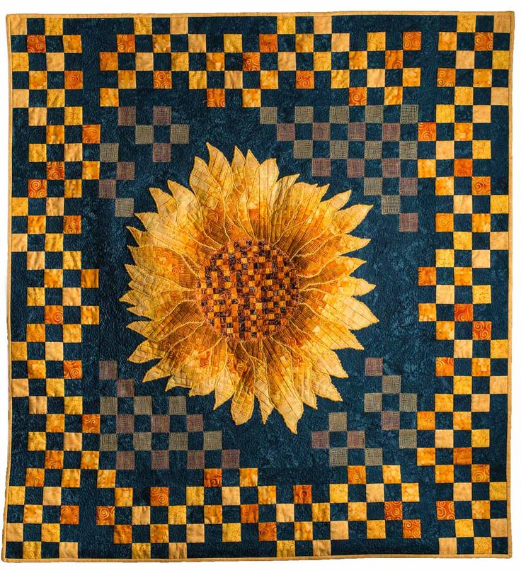 fabric by mosaic small ann sunflower quilts quilt category categories