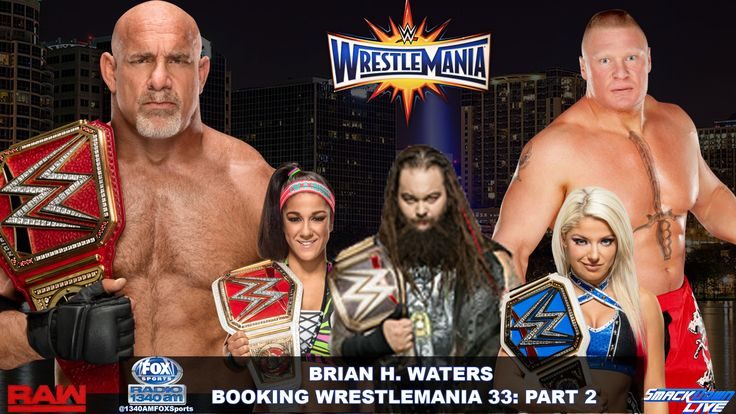 WrestleMania is less than a month away and the card is shaping us very nicely. However, the card still incomplete. I wrote Part I of the way I would book the card a couple of weeks ago. However, there has been some clarity since then.   #Alexa Bliss #Bayley #Brock Lesnar #Charlotte Flair #Goldberg #Sasha Banks #the rock #triple h #WWE