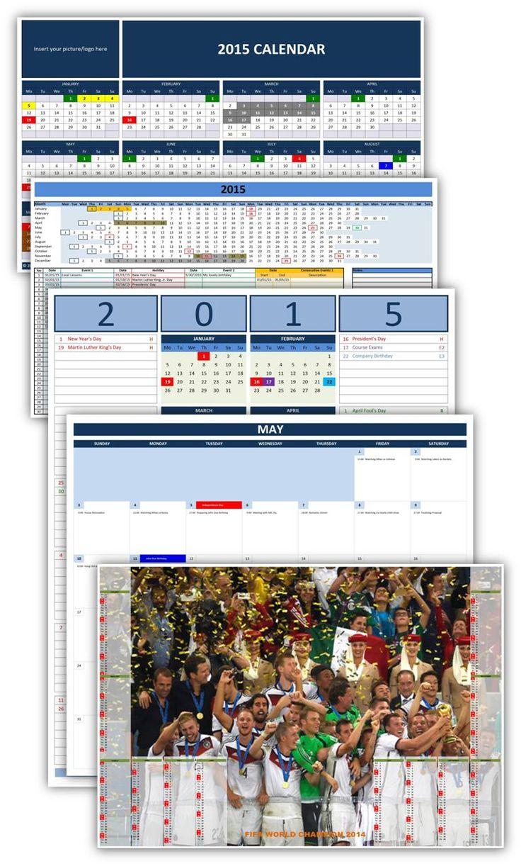 microsoft calendar template 2015 excel