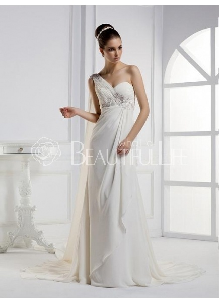 17 best images about beach wedding dresses greek style on for Grecian chiffon wedding dress