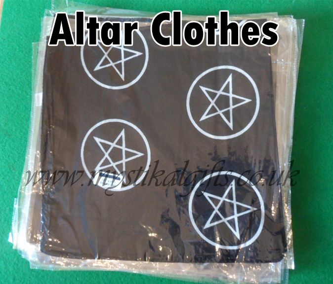Wiccan/ Pagan pentacle altar cloths now available for the Mystikal gifts store #witchcraft #Altarware #wicca #spells #magick #altarcloths  http://www.mystikalgifts.co.uk