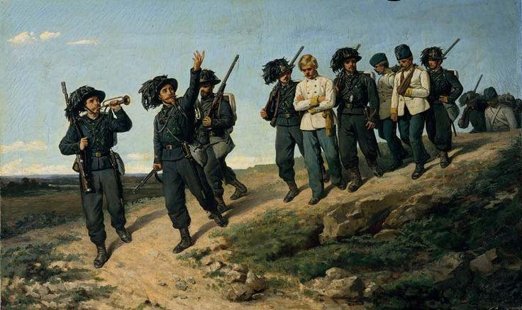 Lega, Silvestro, (1826-1895), Sharpshooters leading Prisoners, 1861