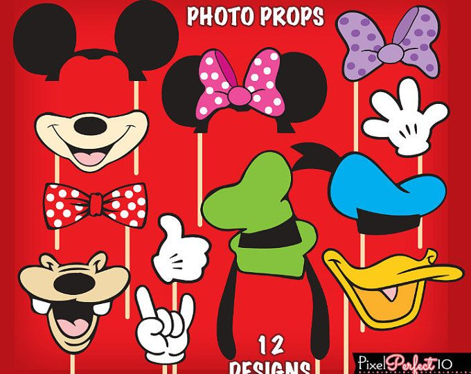 mickey mouse party supplies, Mickey Mouse Printables, Mickey Mouse DIGITAL photo props, Mickey Mouse Ears, Mickey Photo Booth, Mickey Props