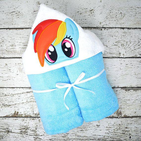 Rainbow Pony Children S Hooded Towel Baby Towel Childrens Hood