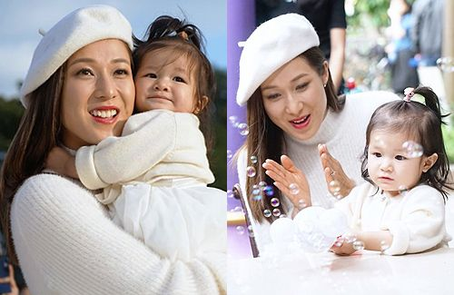 Linda Chung Films Disney Commercial with 16-Month-Old Daughter