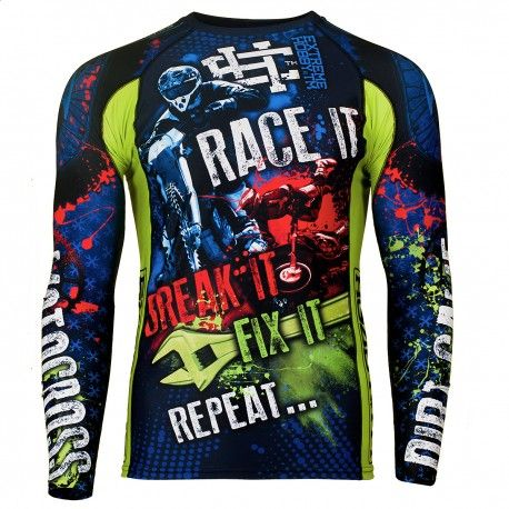 Longsleeve rashguard SPEED. Color: blue. Excellent quality rashguard HOBBY EXTREME is ideal for hard training people who appreciate the highest class of products. Made of high quality material, which, thanks to its flexibility, clings to the body. Sophisticated thermoregulation system by which the body is dry and the muscles warmed up. Sublimated logos (will not scratch).