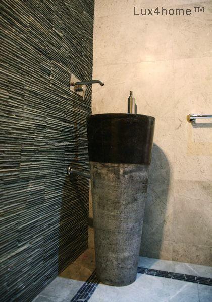 black standing #bathroom #sink #FreeStanding #Marble Sink  Free Standing Bathroom Sink - Pedestal Stone Sinks #Pedestal Hammered. We produce freestanding basins in Indonesia. We are looking for importers of Pedestal Onyx Sinks, Pedestal Marble Wash #Basins, Standing Marble Sinks, Standing Stone sinks etc. We are looking for importers & distributors  #FreestandingSink free standing sink #freestandingsinks #standingstonesink #blacksink #blacksinks  #stonewashbasins #waschbecken #washbasins