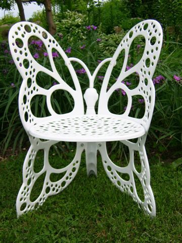 Beautiful Butterfly Chair   White