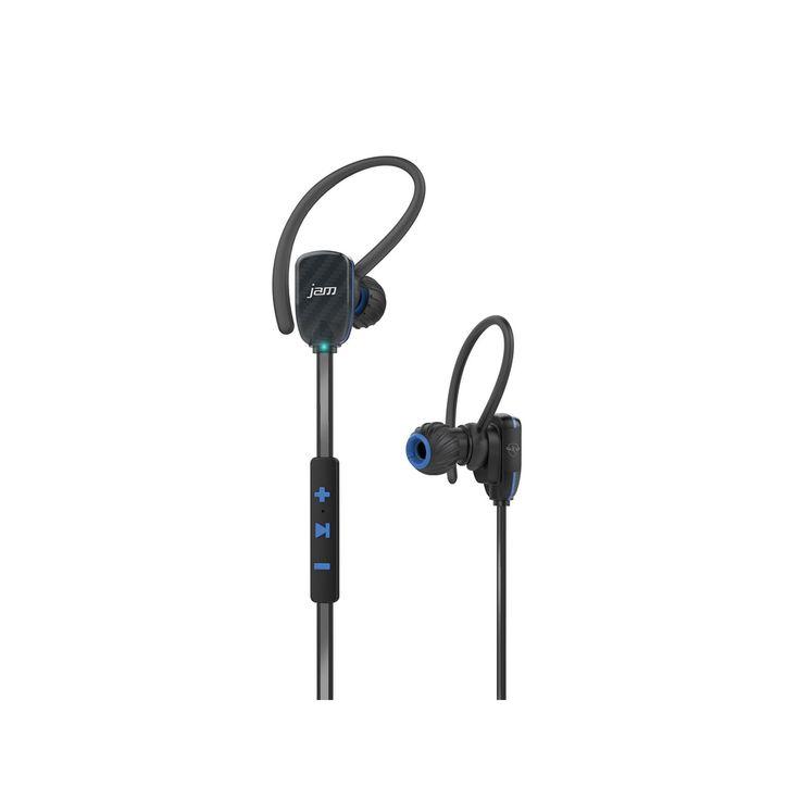Hmdx JAM Transit Wireless Bluetooth Micro Sport Earbuds, Blue